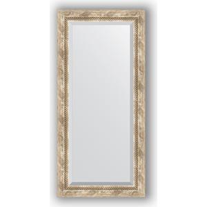 Зеркало с фацетом в багетной раме поворотное Evoform Exclusive 53x113 см, прованс с плетением 70 мм (BY 3485) evoform exclusive by 1161