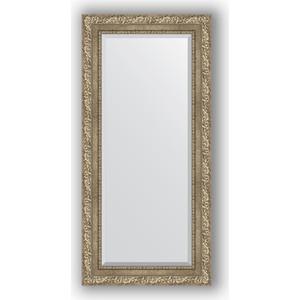 Зеркало с фацетом в багетной раме поворотное Evoform Exclusive 55x115 см, виньетка античное серебро 85 мм (BY 3487) зеркало с фацетом в багетной раме поворотное evoform exclusive 60x145 см виньетка античное серебро 85 мм by 3539