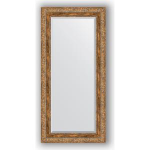 Зеркало с фацетом в багетной раме Evoform Exclusive 55x115 см, виньетка античная бронза 85 мм (BY 3488) evoform exclusive by 1239