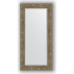 Зеркало с фацетом в багетной раме Evoform Exclusive 55x115 см, виньетка античная латунь 85 мм (BY 3489) зеркало с фацетом в багетной раме evoform exclusive 75x165 см виньетка античная латунь 85 мм by 3593