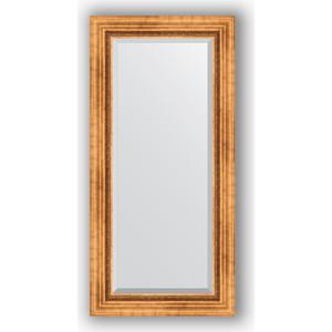 Зеркало с фацетом в багетной раме поворотное Evoform Exclusive 56x116 см, римское золото 88 мм (BY 3490) зеркало с фацетом в багетной раме поворотное evoform exclusive 56x116 см римская бронза 88 мм by 3491