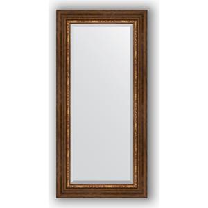 Зеркало с фацетом в багетной раме поворотное Evoform Exclusive 56x116 см, римская бронза 88 мм (BY 3491) римская штора quelle quelle 541783 6 в ш ок 150 90 см