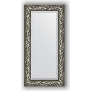 Зеркало с фацетом в багетной раме поворотное Evoform Exclusive 59x119 см, византия серебро 99 мм (BY 3494) evoform зеркало в багетной раме evoform 52x142 см 6322099 mpmxd6r 6322099