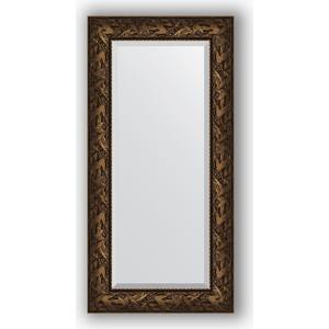 Зеркало с фацетом в багетной раме поворотное Evoform Exclusive 59x119 см, византия бронза 99 мм (BY 3495) зеркало напольное с фацетом поворотное evoform exclusive floor 114x203 см в багетной раме византия бронза 99 мм by 6166