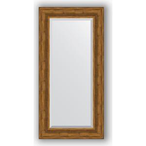 Зеркало с фацетом в багетной раме поворотное Evoform Exclusive 59x119 см, травленая бронза 99 мм (BY 3498) цена