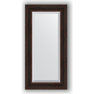 Зеркало с фацетом в багетной раме поворотное Evoform Exclusive 59x119 см, темный прованс 99 мм (BY 3499) зеркало с фацетом в багетной раме поворотное evoform exclusive 53x83 см прованс с плетением 70 мм by 3407