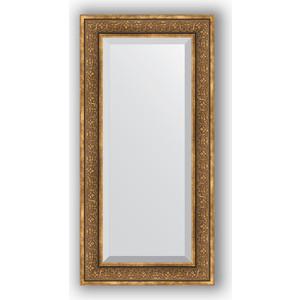 Зеркало с фацетом в багетной раме поворотное Evoform Exclusive 59x119 см, вензель бронзовый 101 мм (BY 3500) зеркало с фацетом в багетной раме поворотное evoform exclusive 53x83 см прованс с плетением 70 мм by 3407