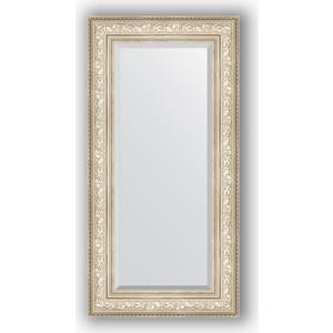 зеркало с фацетом в багетной раме поворотное evoform exclusive 120x180 см виньетка серебро 109 мм by 3634 Зеркало с фацетом в багетной раме поворотное Evoform Exclusive 60x120 см, виньетка серебро 109 мм (BY 3504)