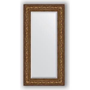 Зеркало с фацетом в багетной раме поворотное Evoform Exclusive 60x120 см, виньетка состаренная бронза 109 мм (BY 3505) цена