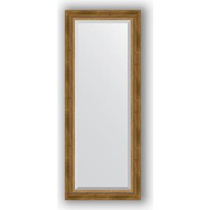 Зеркало с фацетом в багетной раме поворотное Evoform Exclusive 53x133 см, состаренное бронза с плетением 70 мм (BY 3510) зеркало с фацетом в багетной раме поворотное evoform exclusive 53x133 см прованс с плетением 70 мм by 3511