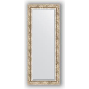 Зеркало с фацетом в багетной раме поворотное Evoform Exclusive 53x133 см, прованс с плетением 70 мм (BY 3511) evoform exclusive by 1161
