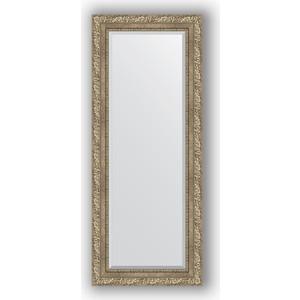 Зеркало с фацетом в багетной раме поворотное Evoform Exclusive 55x135 см, виньетка античное серебро 85 мм (BY 3513) зеркало с фацетом в багетной раме поворотное evoform exclusive 60x145 см виньетка античное серебро 85 мм by 3539