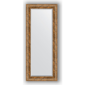 Зеркало с фацетом в багетной раме поворотное Evoform Exclusive 55x135 см, виньетка античная бронза 85 мм (BY 3514) зеркало с фацетом в багетной раме поворотное evoform exclusive 115x175 см виньетка античная бронза 85 мм by 3618