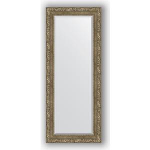 Зеркало с фацетом в багетной раме Evoform Exclusive 55x135 см, виньетка античная латунь 85 мм (BY 3515) evoform exclusive by 1161