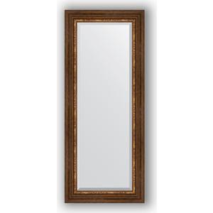 Зеркало с фацетом в багетной раме поворотное Evoform Exclusive 56x136 см, римская бронза 88 мм (BY 3517) зеркало напольное с фацетом поворотное evoform exclusive floor 111x201 см в багетной раме римская бронза 88 мм by 6159