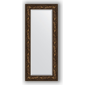 Зеркало с фацетом в багетной раме поворотное Evoform Exclusive 59x139 см, византия бронза 99 мм (BY 3521) зеркало напольное с фацетом поворотное evoform exclusive floor 114x203 см в багетной раме византия бронза 99 мм by 6166