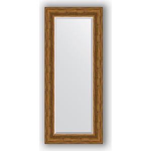 Зеркало с фацетом в багетной раме поворотное Evoform Exclusive 59x139 см, травленая бронза 99 мм (BY 3524) цена