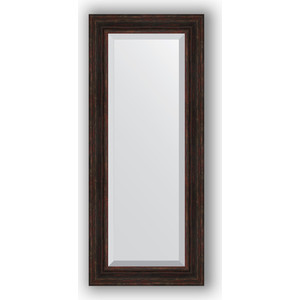 Зеркало с фацетом в багетной раме поворотное Evoform Exclusive 59x139 см, темный прованс 99 мм (BY 3525) зеркало с фацетом в багетной раме поворотное evoform exclusive 53x83 см прованс с плетением 70 мм by 3407