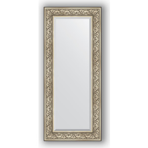 Зеркало с фацетом в багетной раме поворотное Evoform Exclusive 60x140 см, барокко серебро 106 мм (BY 3528) цена