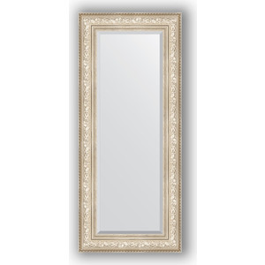 Зеркало с фацетом в багетной раме поворотное Evoform Exclusive 60x140 см, виньетка серебро 109 мм (BY 3530) зеркало с фацетом в багетной раме поворотное evoform exclusive 53x83 см прованс с плетением 70 мм by 3407