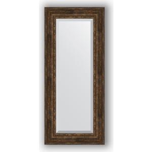цены Зеркало с фацетом в багетной раме поворотное Evoform Exclusive 62x142 см, состаренное дерево с орнаментом 120 мм (BY 3534)