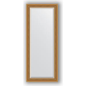 Зеркало с фацетом в багетной раме поворотное Evoform Exclusive 58x143 см, состаренное золото с плетением 70 мм (BY 3535) зеркало с фацетом в багетной раме поворотное evoform exclusive 53x83 см состаренное золото с плетением 70 мм by 3405