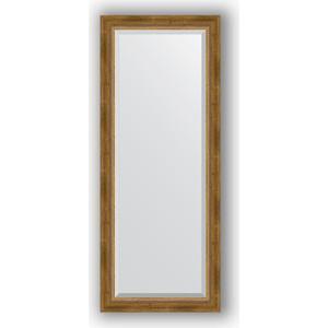 Зеркало с фацетом в багетной раме поворотное Evoform Exclusive 58x143 см, состаренное бронза с плетением 70 мм (BY 3536) зеркало с фацетом в багетной раме поворотное evoform exclusive 58x143 см прованс с плетением 70 мм by 3537