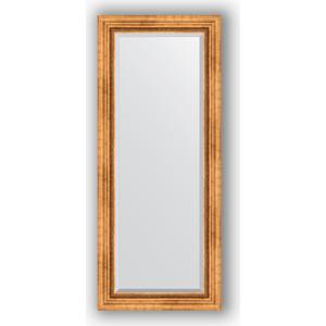 Зеркало с фацетом в багетной раме поворотное Evoform Exclusive 61x146 см, римское золото 88 мм (BY 3542)