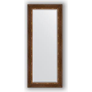 Зеркало с фацетом в багетной раме поворотное Evoform Exclusive 61x146 см, римская бронза 88 мм (BY 3543) зеркало напольное с фацетом поворотное evoform exclusive floor 111x201 см в багетной раме римская бронза 88 мм by 6159