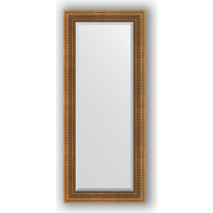 Зеркало с фацетом в багетной раме поворотное Evoform Exclusive 62x147 см, бронзовый акведук 93 мм (BY 3544)