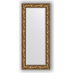Зеркало с фацетом в багетной раме поворотное Evoform Exclusive 64x149 см, византия золото 99 мм (BY 3545) зеркало с фацетом в багетной раме поворотное evoform exclusive 79x169 см византия золото 99 мм by 3597