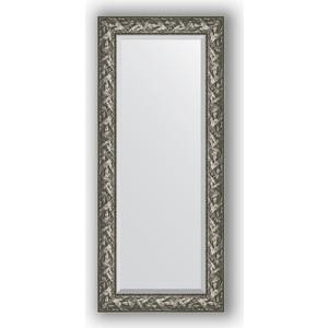 Зеркало с фацетом в багетной раме поворотное Evoform Exclusive 64x149 см, византия серебро 99 мм (BY 3546) зеркало с фацетом в багетной раме поворотное evoform exclusive 53x83 см прованс с плетением 70 мм by 3407