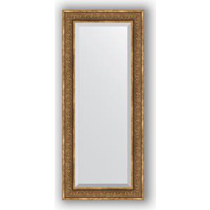 Зеркало с фацетом в багетной раме поворотное Evoform Exclusive 64x149 см, вензель бронзовый 101 мм (BY 3552)