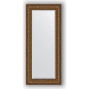 Зеркало с фацетом в багетной раме поворотное Evoform Exclusive 65x150 см, виньетка состаренная бронза 109 мм (BY 3557) evoform exclusive by 1161