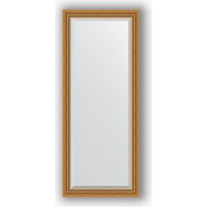 Зеркало с фацетом в багетной раме поворотное Evoform Exclusive 63x153 см, состаренное золото с плетением 70 мм (BY 3561) зеркало с фацетом в багетной раме поворотное evoform exclusive 53x83 см прованс с плетением 70 мм by 3407