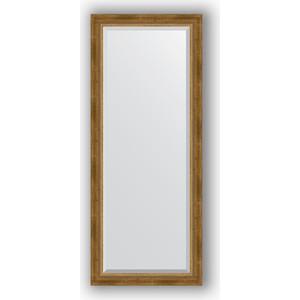 Зеркало с фацетом в багетной раме поворотное Evoform Exclusive 63x153 см, состаренное бронза с плетением 70 мм (BY 3562) зеркало с фацетом в багетной раме поворотное evoform exclusive 53x83 см состаренное бронза с плетением 70 мм by 3406