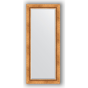 Зеркало с фацетом в багетной раме поворотное Evoform Exclusive 66x156 см, римское золото 88 мм (BY 3568) evoform exclusive by 1161