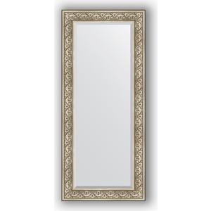 цена на Зеркало с фацетом в багетной раме поворотное Evoform Exclusive 70x160 см, барокко серебро 106 мм (BY 3580)