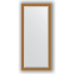 Зеркало с фацетом в багетной раме поворотное Evoform Exclusive 73x163 см, состаренное золото с плетением 70 мм (BY 3587) зеркало с фацетом в багетной раме поворотное evoform exclusive 53x83 см прованс с плетением 70 мм by 3407