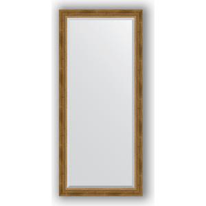 Зеркало с фацетом в багетной раме поворотное Evoform Exclusive 73x163 см, состаренное бронза с плетением 70 мм (BY 3588) зеркало с фацетом в багетной раме поворотное evoform exclusive 73x163 см прованс с плетением 70 мм by 3589