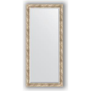 Зеркало с фацетом в багетной раме поворотное Evoform Exclusive 73x163 см, прованс с плетением 70 мм (BY 3589) evoform exclusive by 1239