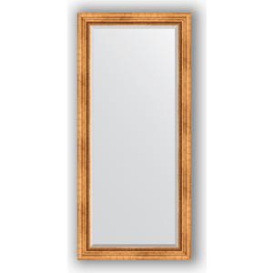 Зеркало с фацетом в багетной раме поворотное Evoform Exclusive 76x166 см, римское золото 88 мм (BY 3594)