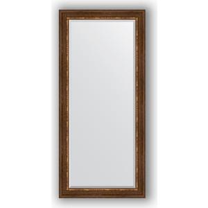 Зеркало с фацетом в багетной раме поворотное Evoform Exclusive 76x166 см, римская бронза 88 мм (BY 3595) evoform exclusive by 1161