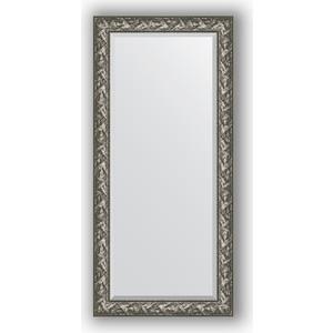 Зеркало с фацетом в багетной раме поворотное Evoform Exclusive 79x169 см, византия серебро 99 мм (BY 3598)
