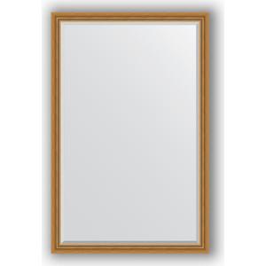 Зеркало с фацетом в багетной раме поворотное Evoform Exclusive 113x173 см, состаренное золото с плетением 70 мм (BY 3613) зеркало с фацетом в багетной раме поворотное evoform exclusive 53x83 см прованс с плетением 70 мм by 3407