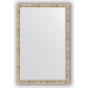 Зеркало с фацетом в багетной раме поворотное Evoform Exclusive 113x173 см, прованс с плетением 70 мм (BY 3615) evoform exclusive by 1239
