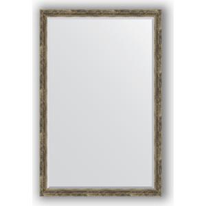 Фотография товара зеркало с фацетом в багетной раме Evoform Exclusive 113x173 см, старое дерево с плетением 70 мм (BY 3616) (572359)