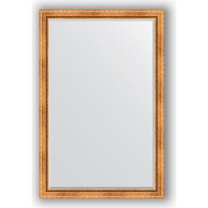 Зеркало с фацетом в багетной раме поворотное Evoform Exclusive 116x176 см, римское золото 88 мм (BY 3620)