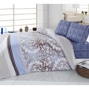 Комплект постельного белья Cotton Life 1,5 сп Damask голубой (6165)