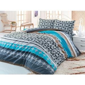Комплект постельного белья Cotton Life 1,5 сп Karambol бирюзовый (6158)